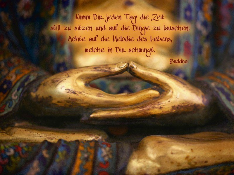 Artland Poster oder Leinwandbild »Religion Buddhismus Fotografie Gold« in Gold