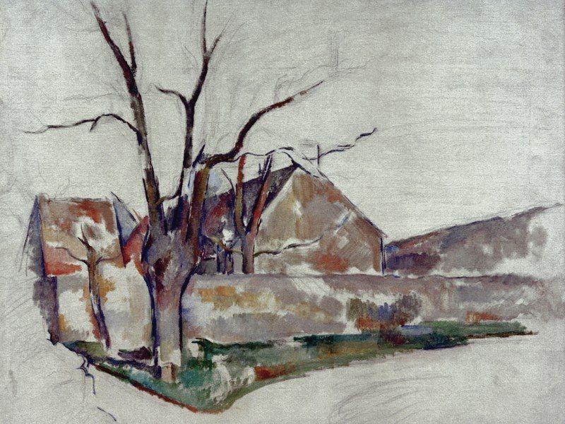 Artland Poster oder Leinwandbild »Landschaften Vier Jahreszeiten Zeichnung Grau« in Grau