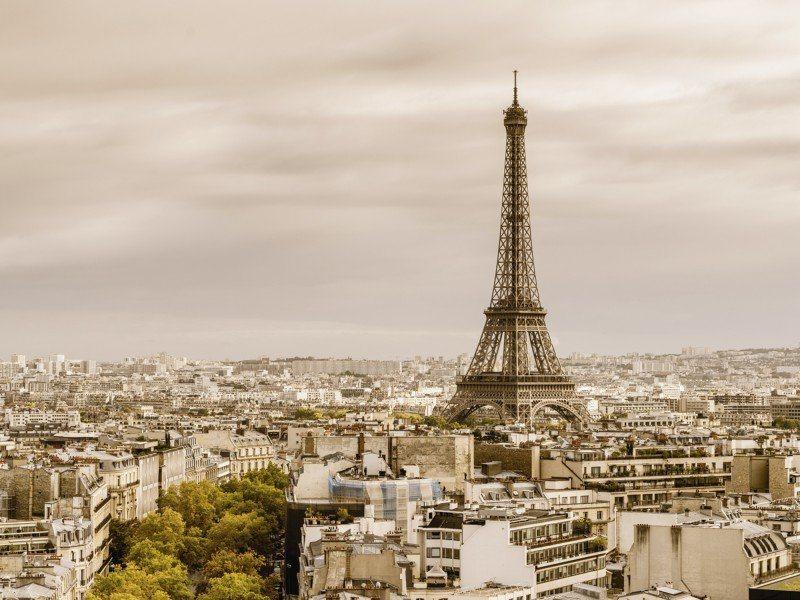 Artland Poster oder Leinwandbild »Städte Frankreich Paris Fotografie Sepia« in Sepia