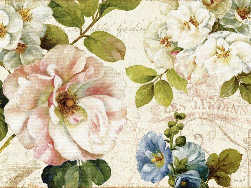 Artland Poster oder Leinwandbild »Botanik Blumen Collage Grün« in Grün