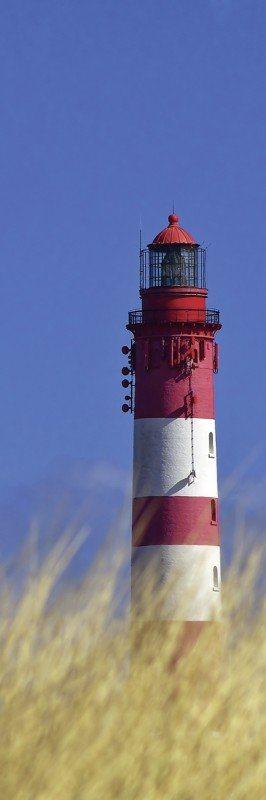 Artland Poster oder Leinwandbild »Architektur Gebäude Leuchtturm Fotografie Blau« in Blau