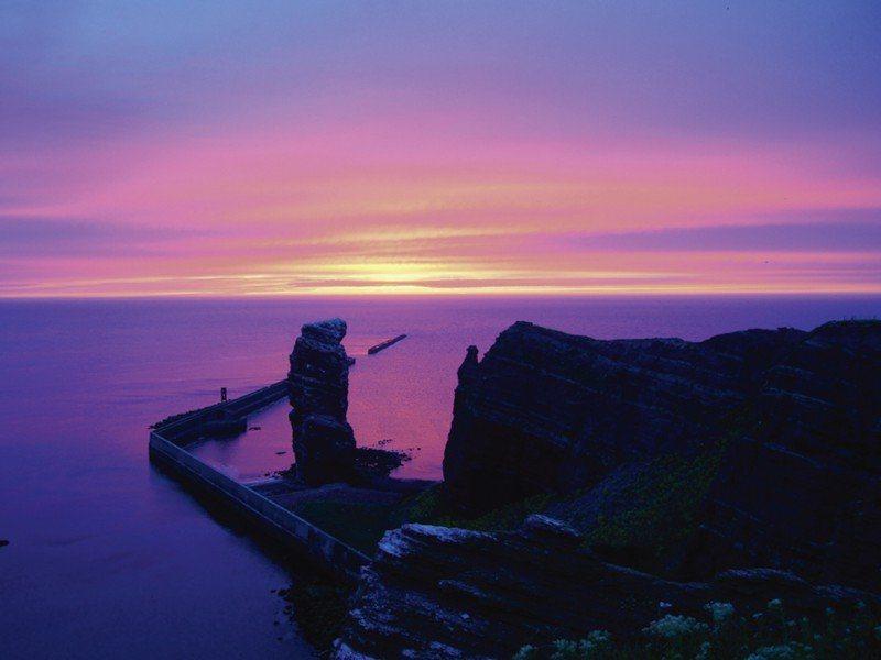 Artland Poster oder Leinwandbild »Landschaften Sonnenuntergang Fotografie Lila« in Lila