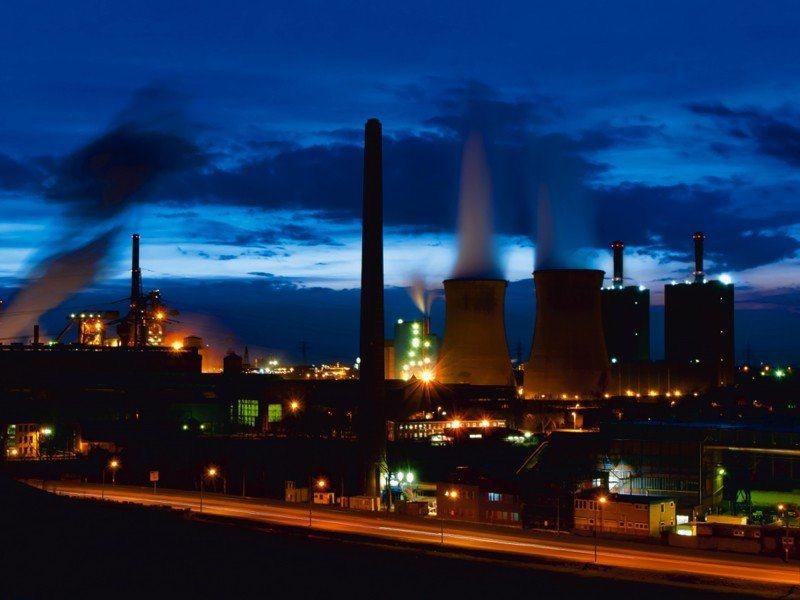 Artland Poster oder Leinwandbild »Städte Deutschland Duisburg Fotografie Blau« in Blau