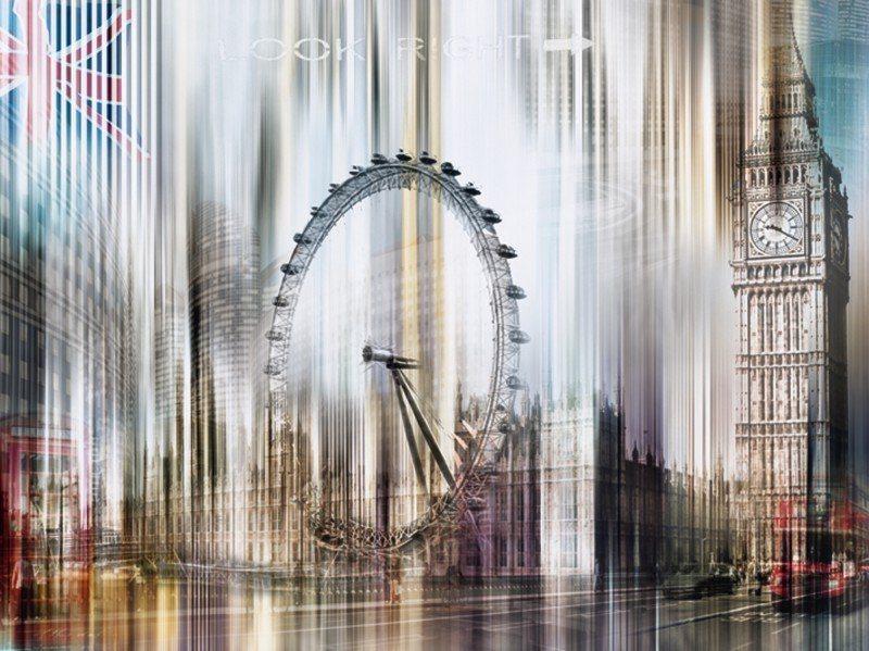 Artland Poster oder Leinwandbild »Architektur Sehenswürdigkeiten Digitale Kunst Weiß« in Weiß