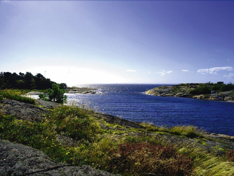 Artland Poster oder Leinwandbild »Landschaften Gewässer Fotografie Blau« in Blau