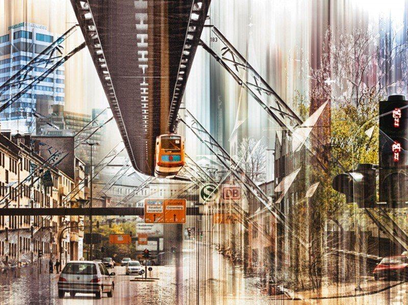 Artland Poster oder Leinwandbild »Städte Deutschland Digitale Kunst Braun« in Braun