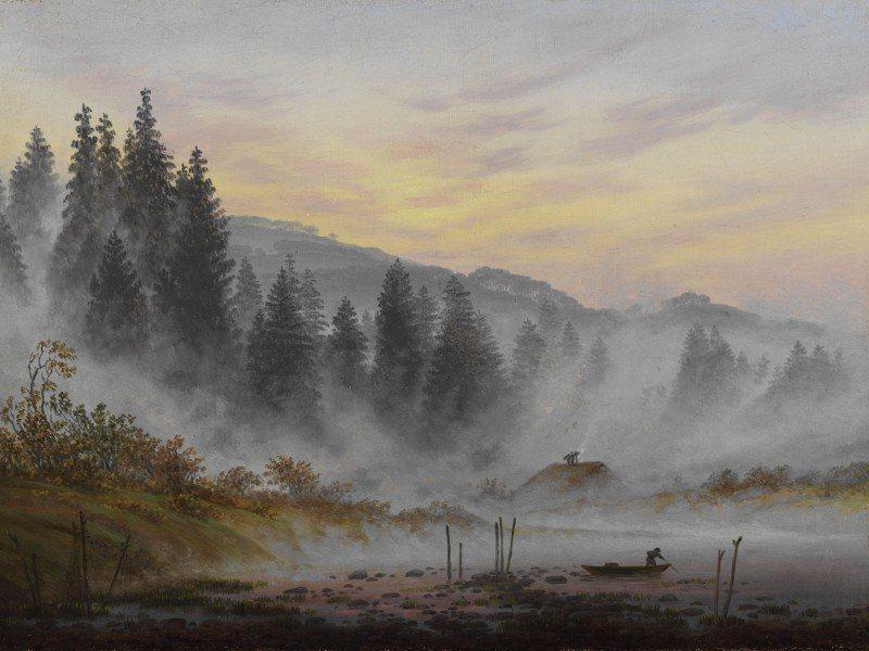Artland Poster oder Leinwandbild »Landschaften Berge Malerei Grau« in Grau