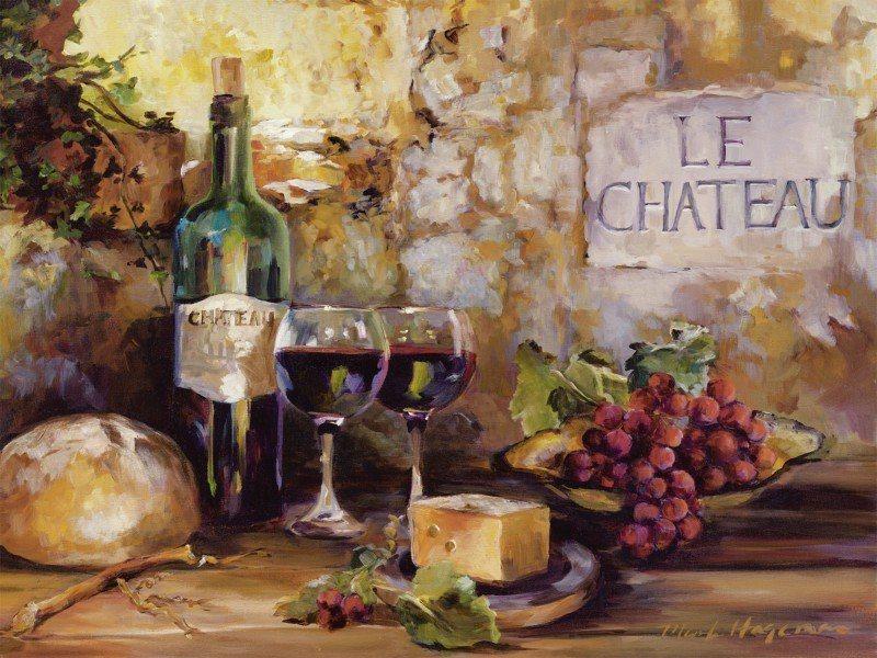 Artland Poster oder Leinwandbild »Ernährung & Genuss Getränke Wein Malerei Braun« in Braun