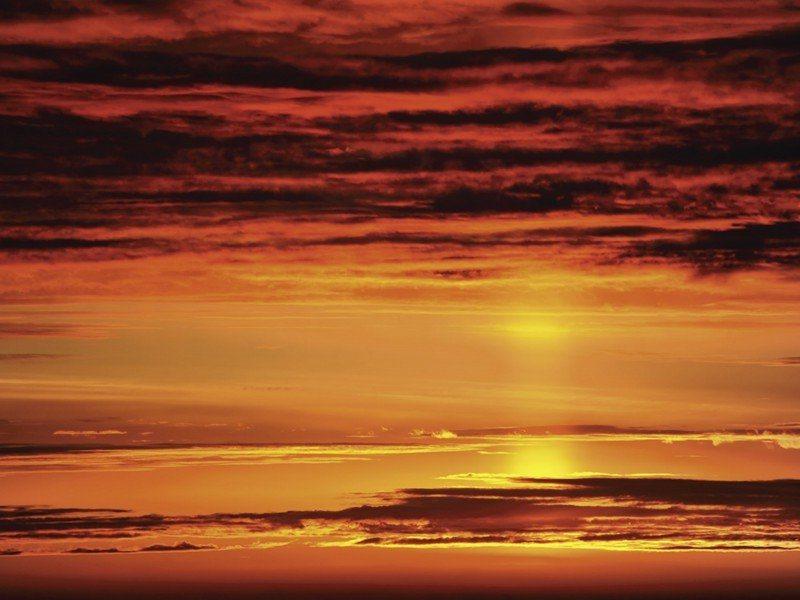 Artland Poster oder Leinwandbild »Landschaften Himmel Malerei Rot« in Rot
