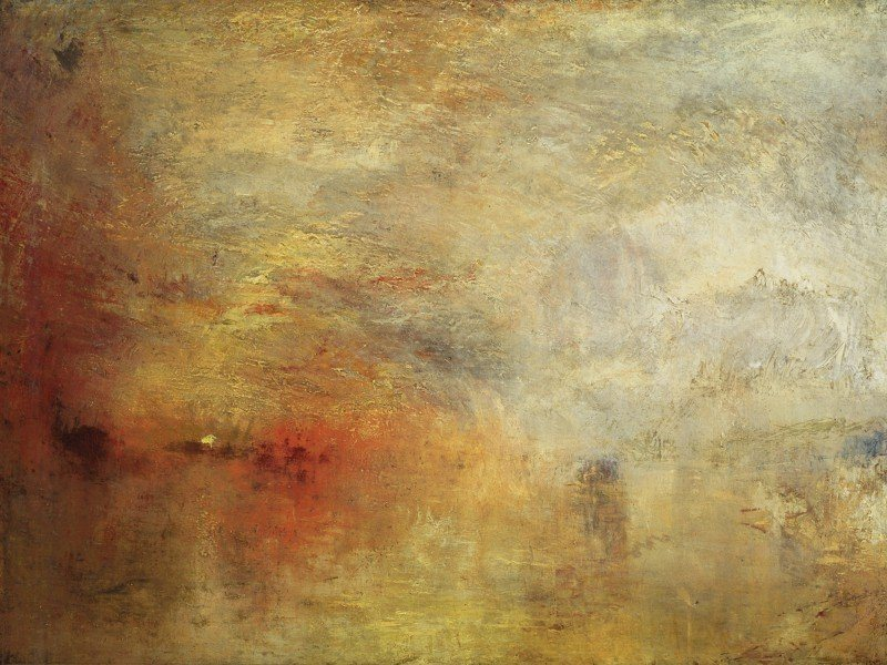 Artland Poster oder Leinwandbild »Landschaften Gewässer Malerei Braun« in Braun