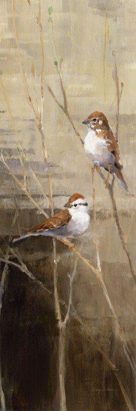 Artland Poster oder Leinwandbild »Tiere Vögel Malerei Braun« in Braun