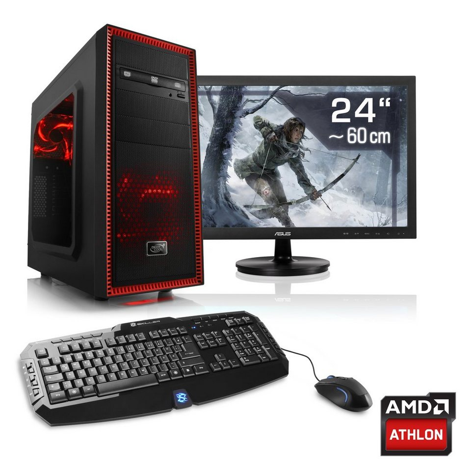 "CSL Gaming PC Set AMD Athlon X4 845 | GTX 1060 | 8 GB RAM | 24"" TFT »Sprint T4922 Windows 10 Home«"