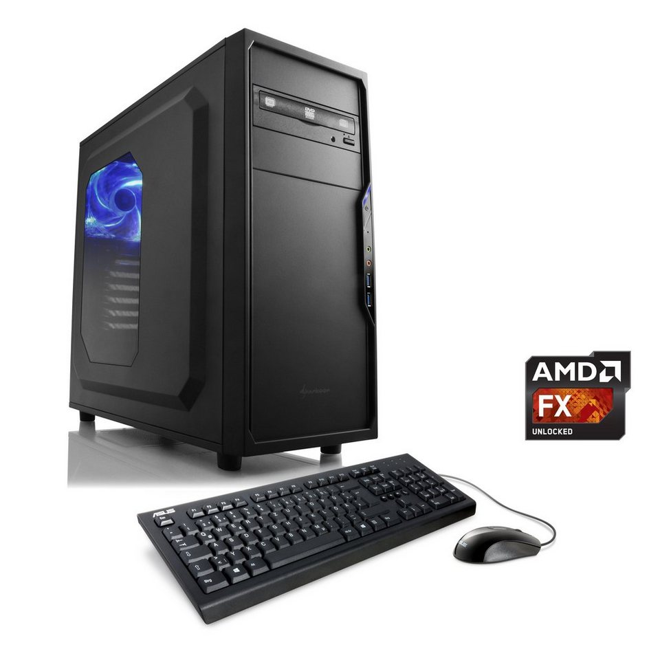 CSL Multimedia PC | AMD FX-8370E | Radeon R7 240 | 16 GB RAM | WLAN »Sprint T6643 Windows 10 Pro«