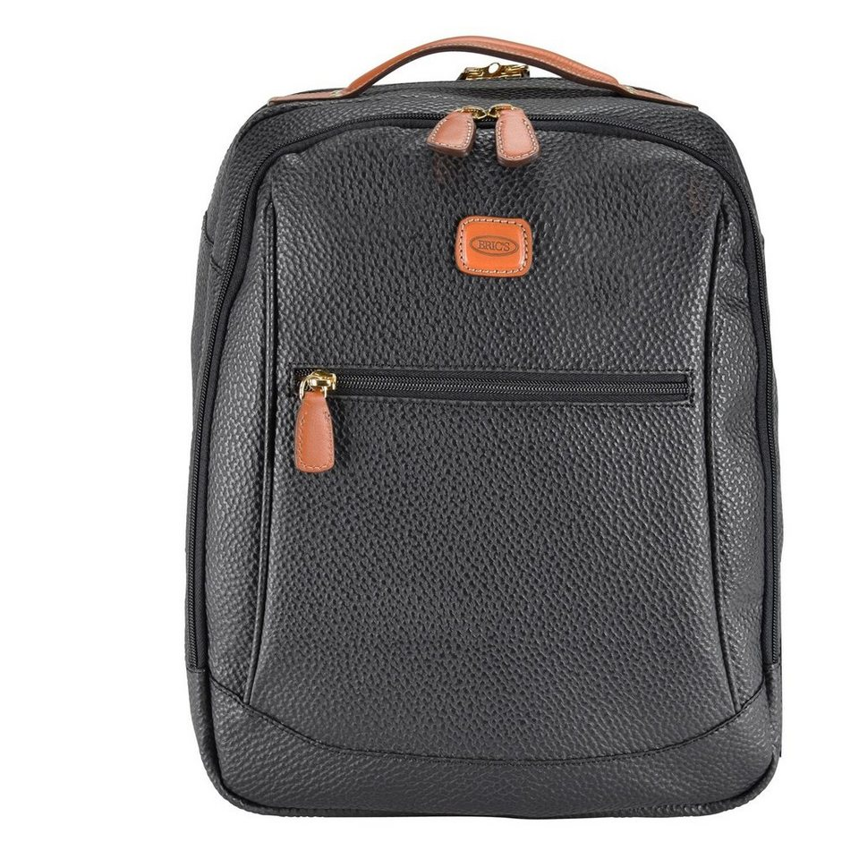 Bric's Magellano Rucksack 39 cm Laptopfach in black/brown