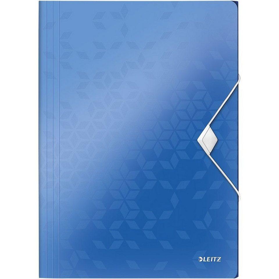 Leitz Eckspannermappe »WOW« in metallicblau