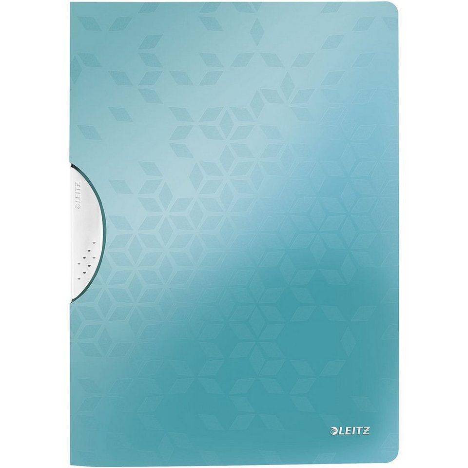 Leitz Klemmhefter »WOW ColorClip« in eisblau metallic