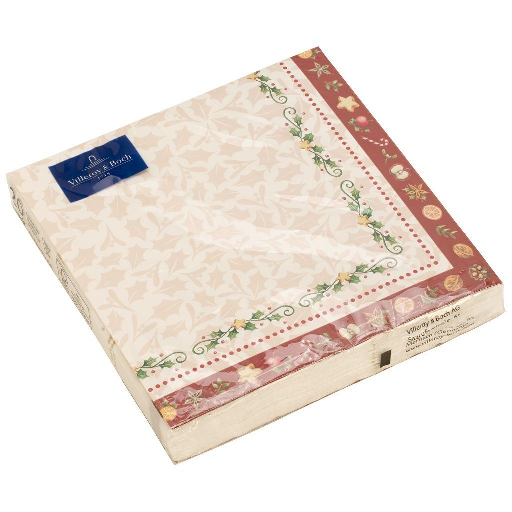 VILLEROY & BOCH Bakery L-Serviette Girlande 33x33cm »Winter Specials«