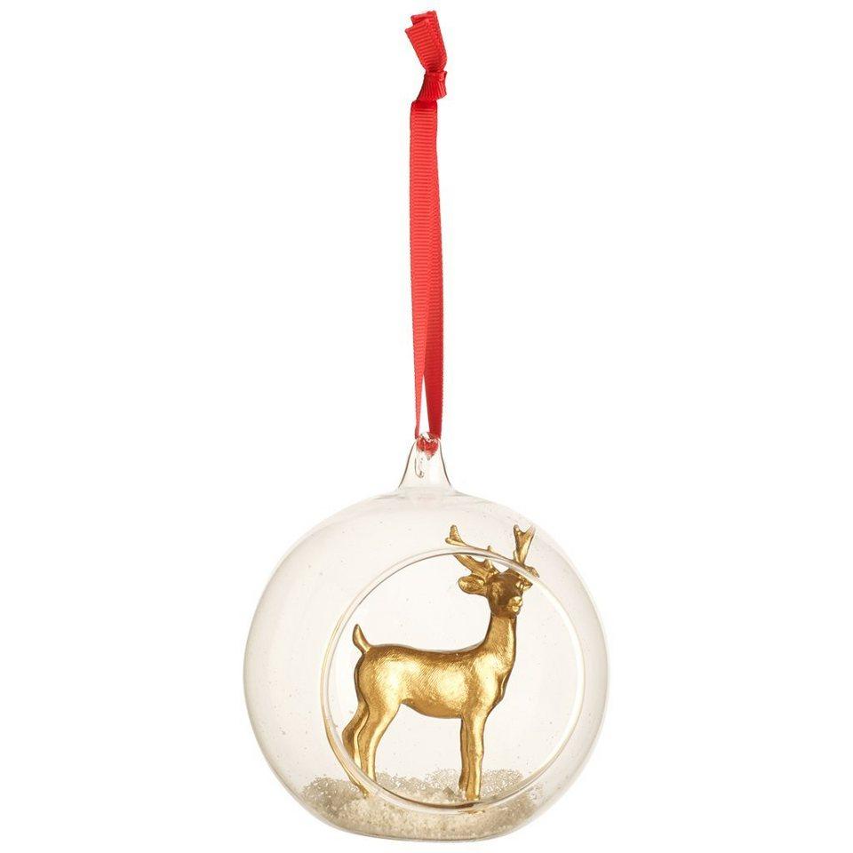 VILLEROY & BOCH Hänger Glaskugel m. Hirsch 12cm »Classic Christmas 2016« in dekoriert