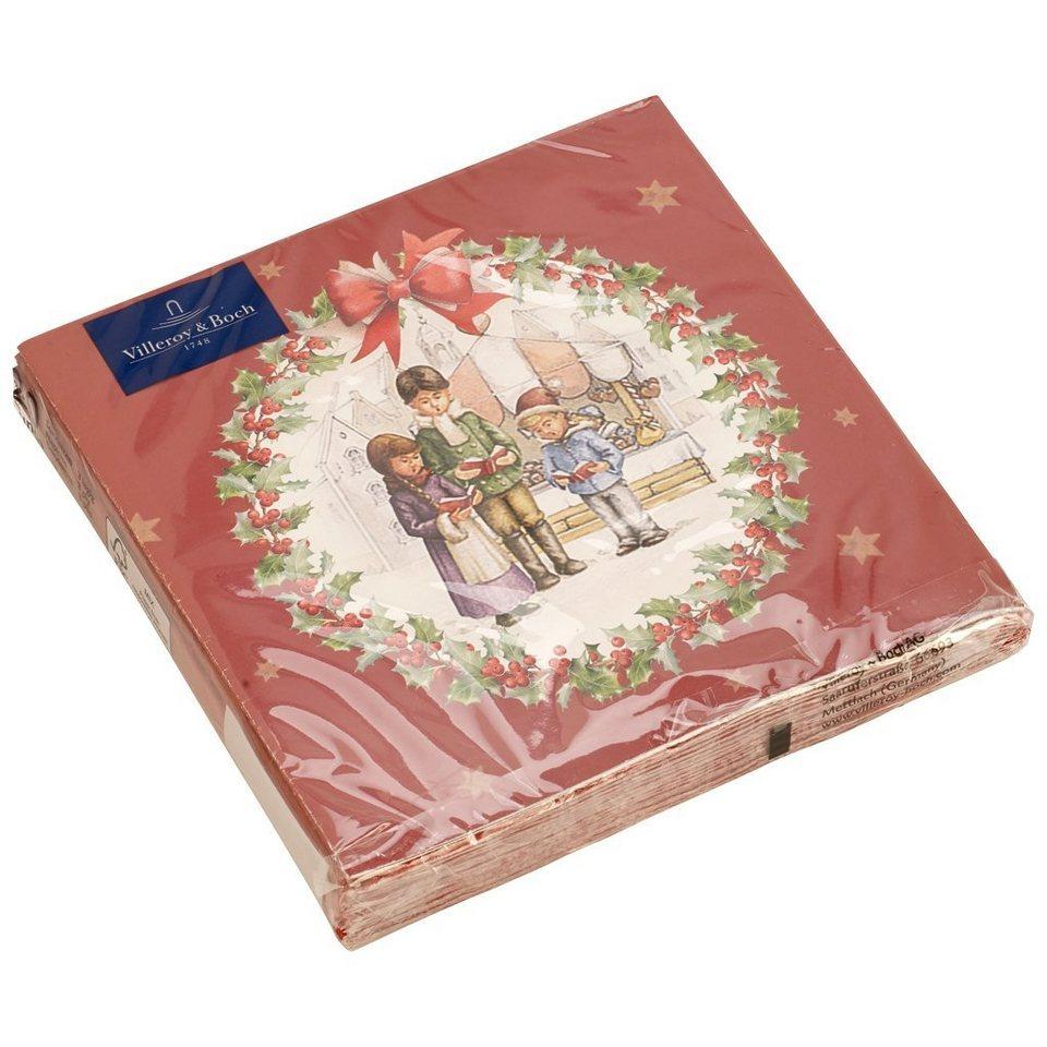 VILLEROY & BOCH Toys L-Serviette Kinderchor 33x33cm »Winter Specials« in dekoriert