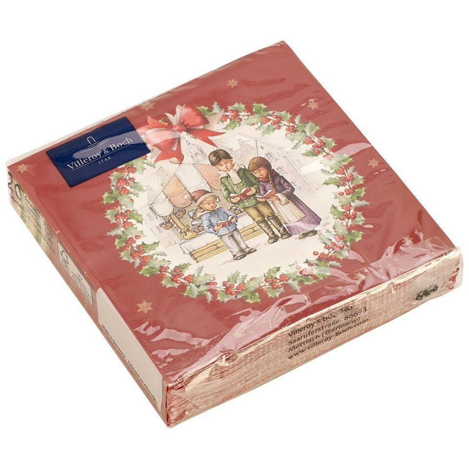 VILLEROY & BOCH Toys C-Serviette Kinderchor 25x25cm »Winter Specials« in dekoriert