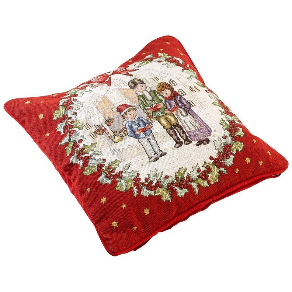 VILLEROY & BOCH Gobelin Kissen 45x45cm »Christmas Toys 2016« in dekoriert