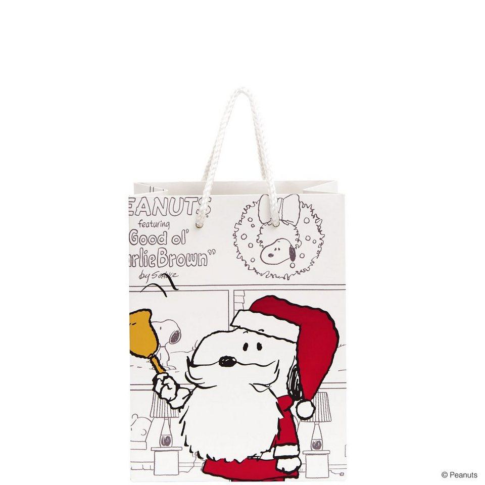BUTLERS PEANUTS »Geschenktasche Santa Snoopy klein« in bunt