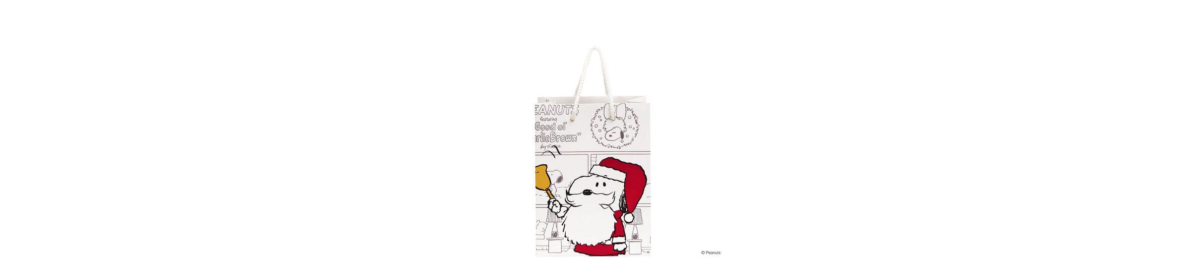 BUTLERS PEANUTS »Geschenktasche Santa Snoopy klein«