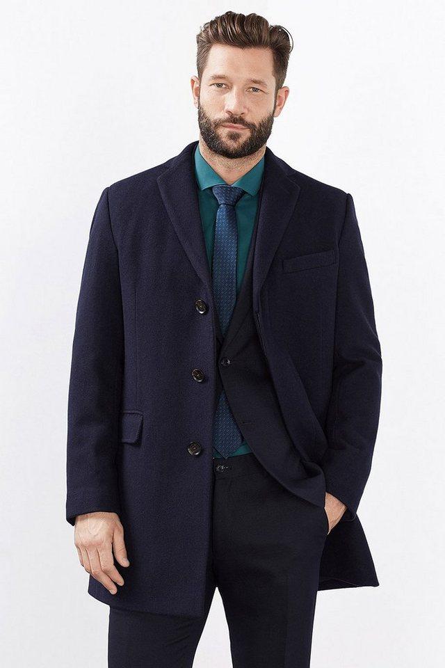 ESPRIT COLLECTION Blazer-Mantel aus weichem Woll-Mix in NAVY