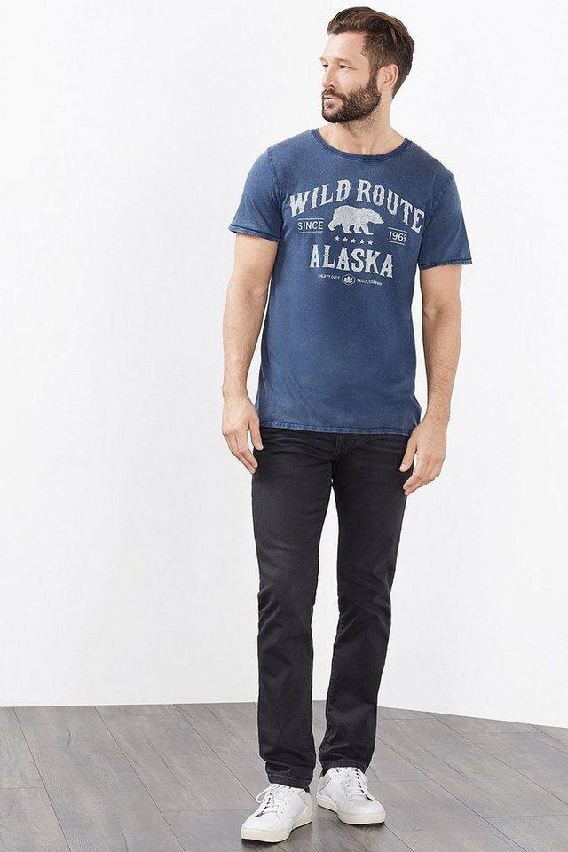 ESPRIT CASUAL Artwork Jersey T-Shirt, 100% Baumwolle in BLUE