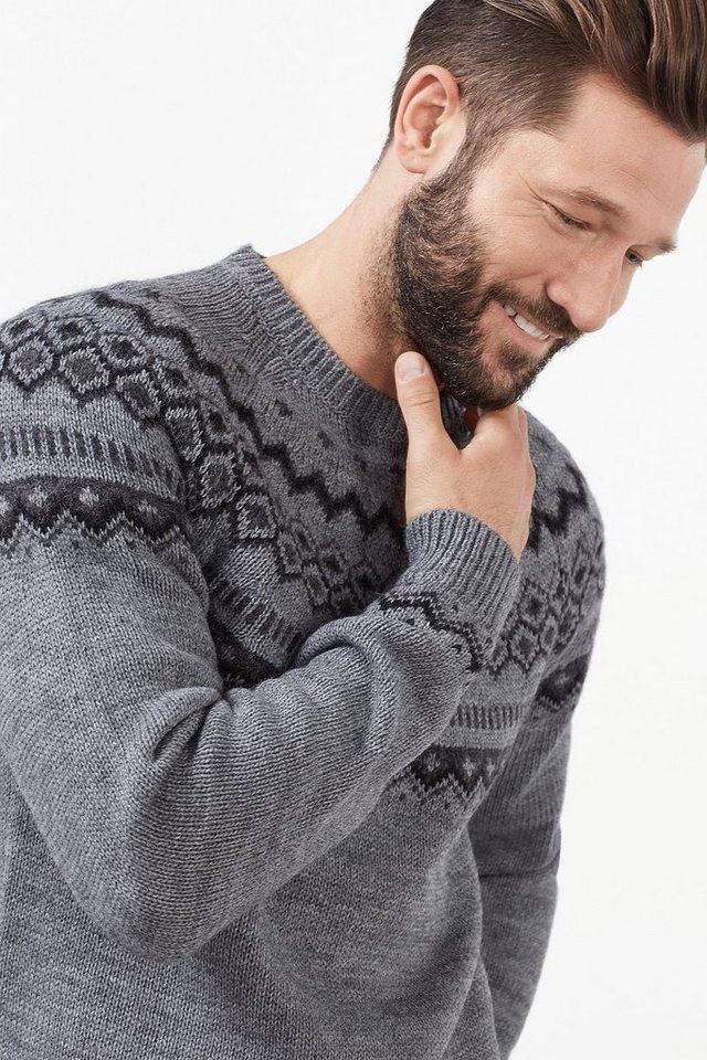 ESPRIT CASUAL Nordic Pulli aus warmem Strick mit Wolle in GREY
