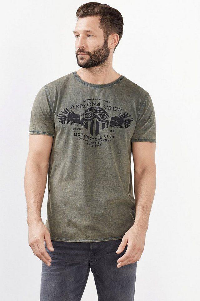 ESPRIT CASUAL Artwork Jersey T-Shirt, 100% Baumwolle in DARK KHAKI