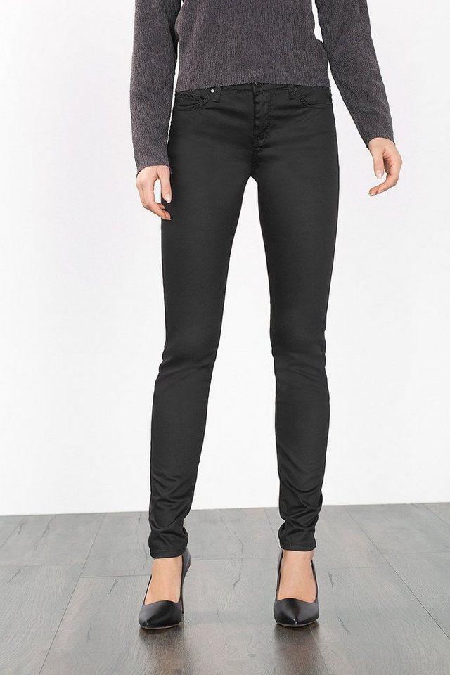 ESPRIT COLLECTION Beschichtete Hose mit Nieten in BLACK