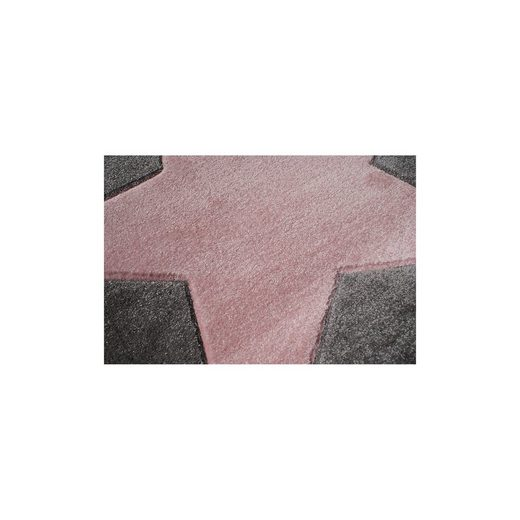 happy rugs teppich star silbergrau rosa 160cm rund online kaufen otto. Black Bedroom Furniture Sets. Home Design Ideas