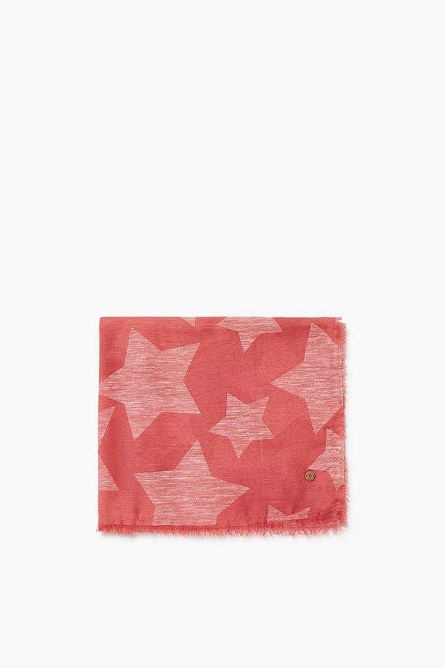 EDC Zarter Schal mit Sternen-Design in RED