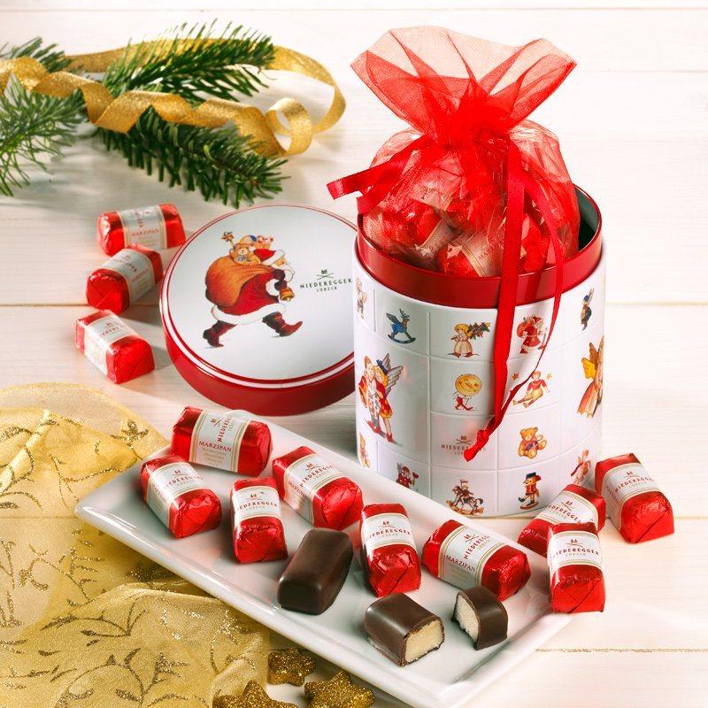 Niederegger Niederegger Weihnachtsdose mit Marzipan Klassikern