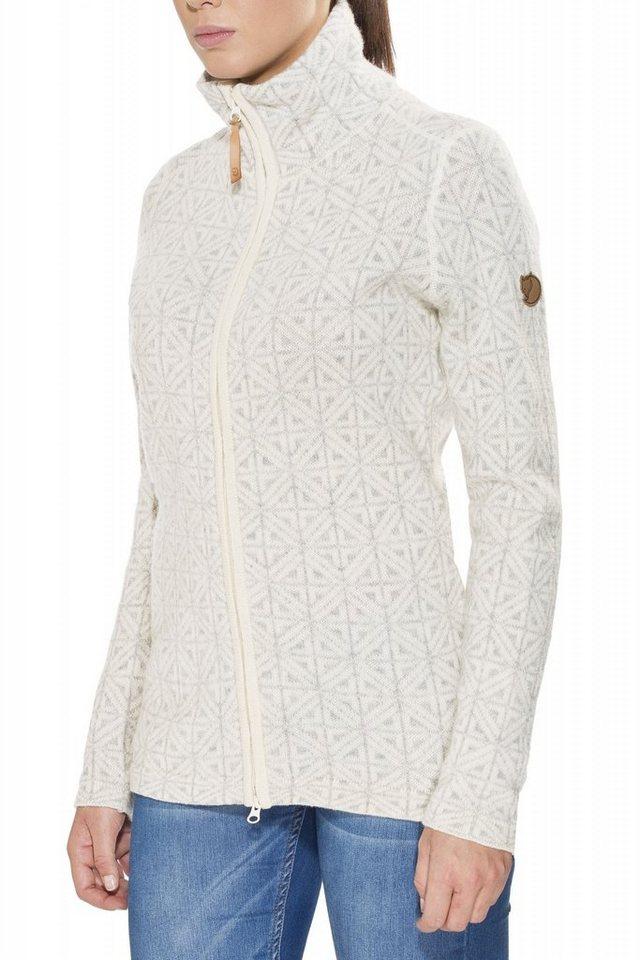 Fjällräven Pullover »Övik Frost Cardigan Women« in weiß