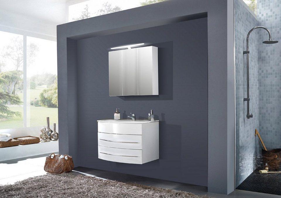 SalesFever Badmöbel-Set, Breite 80 cm, (2-tlg.) »Deborah« in weiß