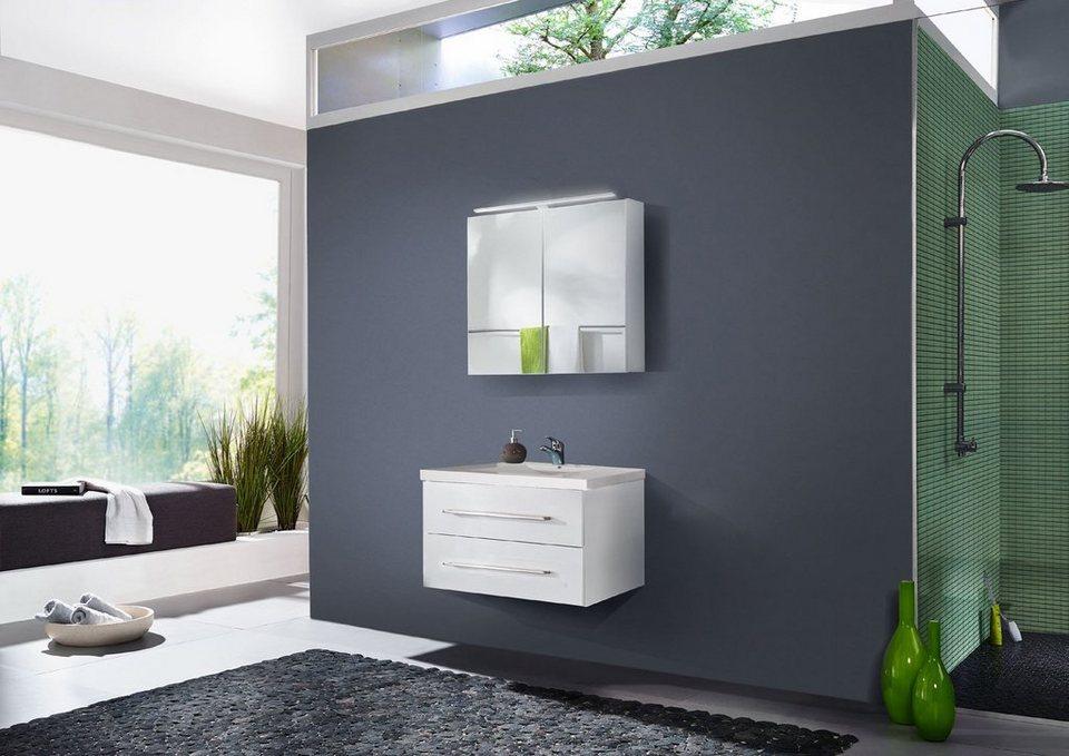 SalesFever Badmöbel-Set, Breite 90 cm, (2-tlg.) »Deborah« in weiß