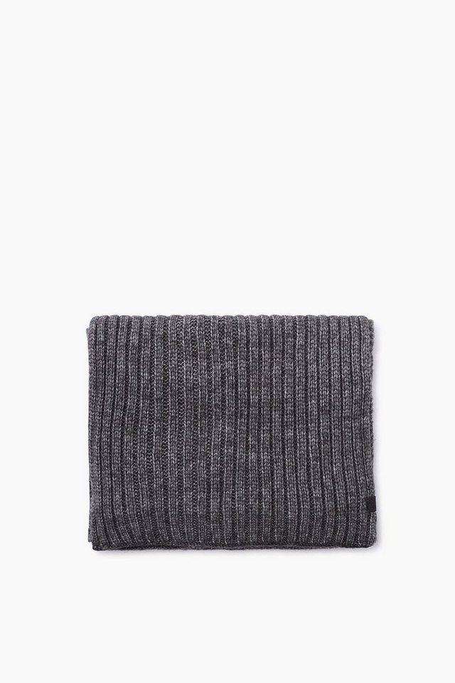 EDC Melierter Schal aus Woll-Mix in BLACK