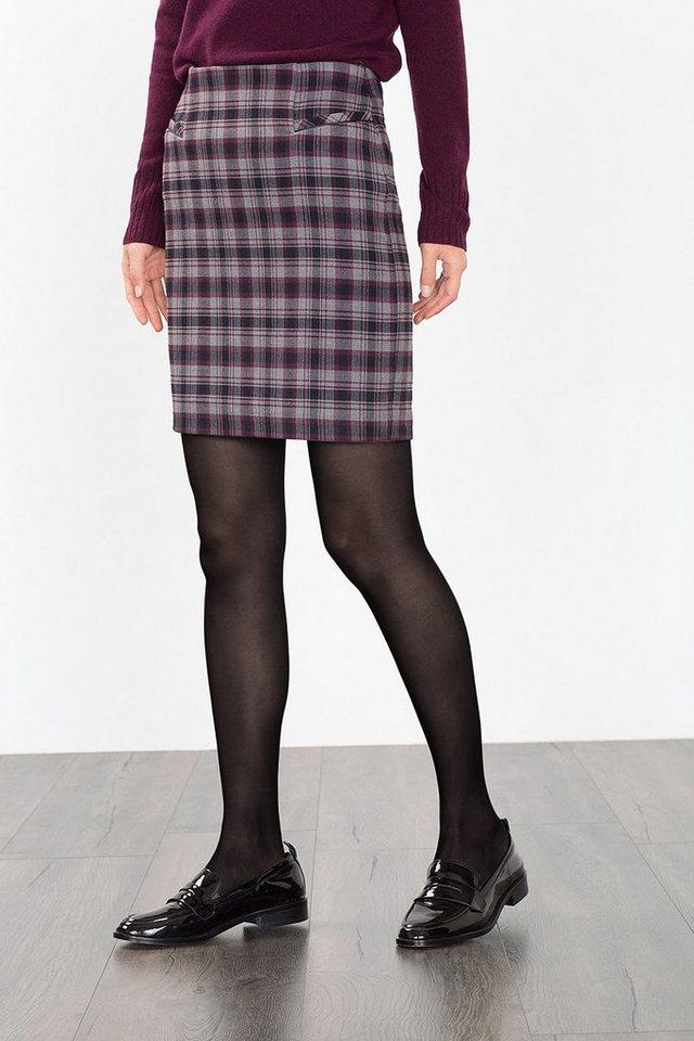 ESPRIT CASUAL Stretch-Mini im Karo-Look, Woll-Optik in GUNMETAL