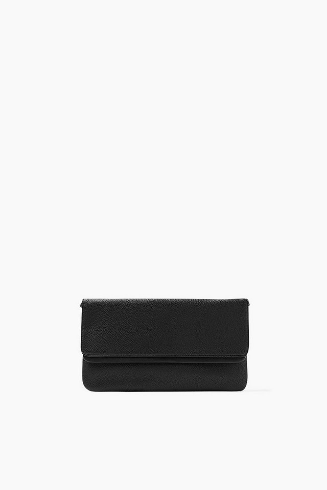 ESPRIT CASUAL Clutch in Lederoptik, abnehmbarer Riemen in BLACK