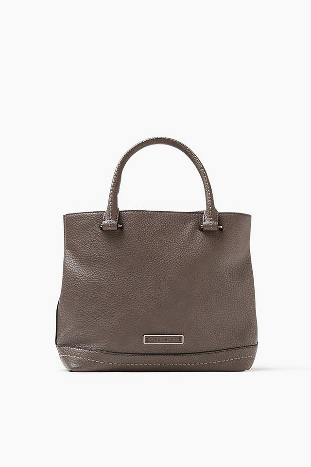 ESPRIT CASUAL Kleine City Bag mit markanter Lederoptik in TAUPE
