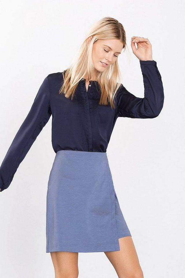 ESPRIT COLLECTION Fließende Shiny Satin-Bluse in NAVY