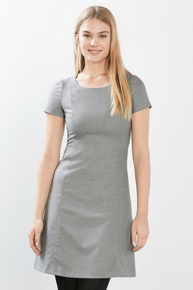 ESPRIT CASUAL Tailliertes Kleid in Woll-Optik in GREY
