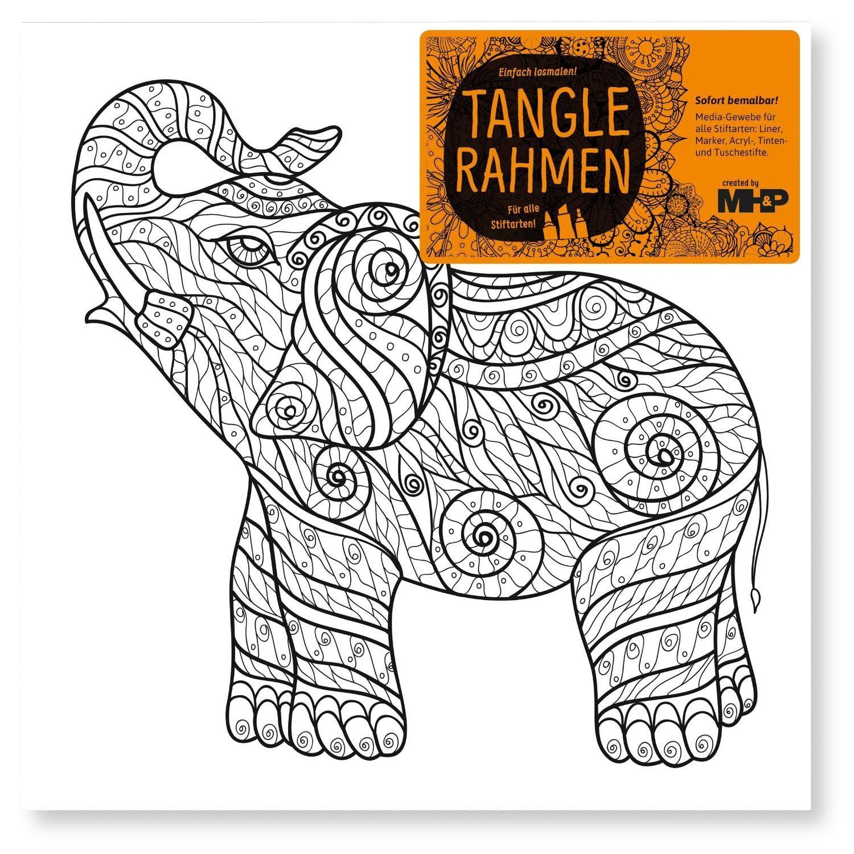 """Tangle Rahmen """"Elefant"""" 20 cm"""