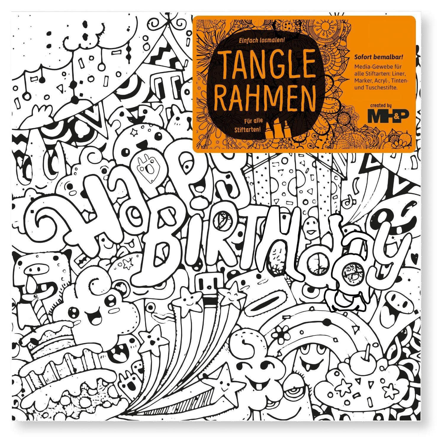 "Tangle Rahmen ""Happy Birthday"" 20 cm"