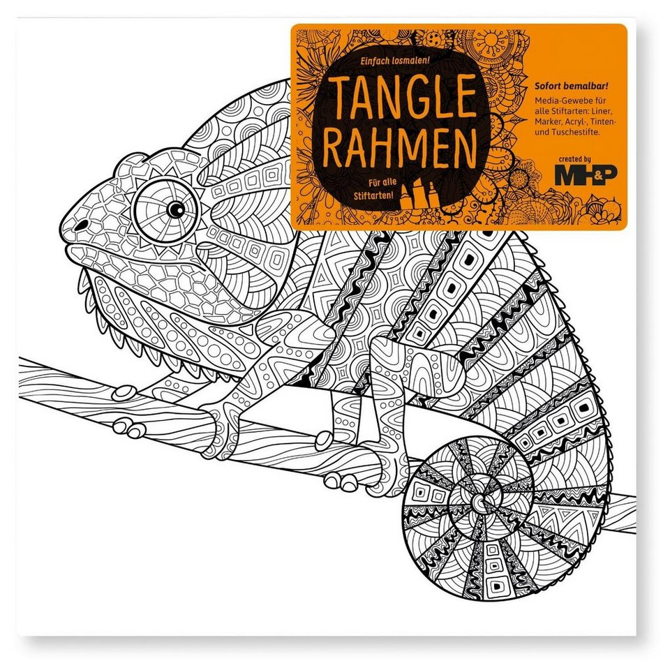 "Tangle Rahmen ""Chamäleon"" 20 cm"
