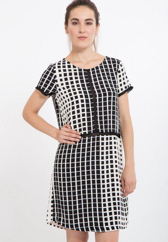 Mexx Sommerkleid mit Netzeinsatz in schwarz