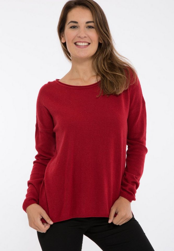 Mexx Longpullover mit Cashmere-Blend in relaxed fit in rot