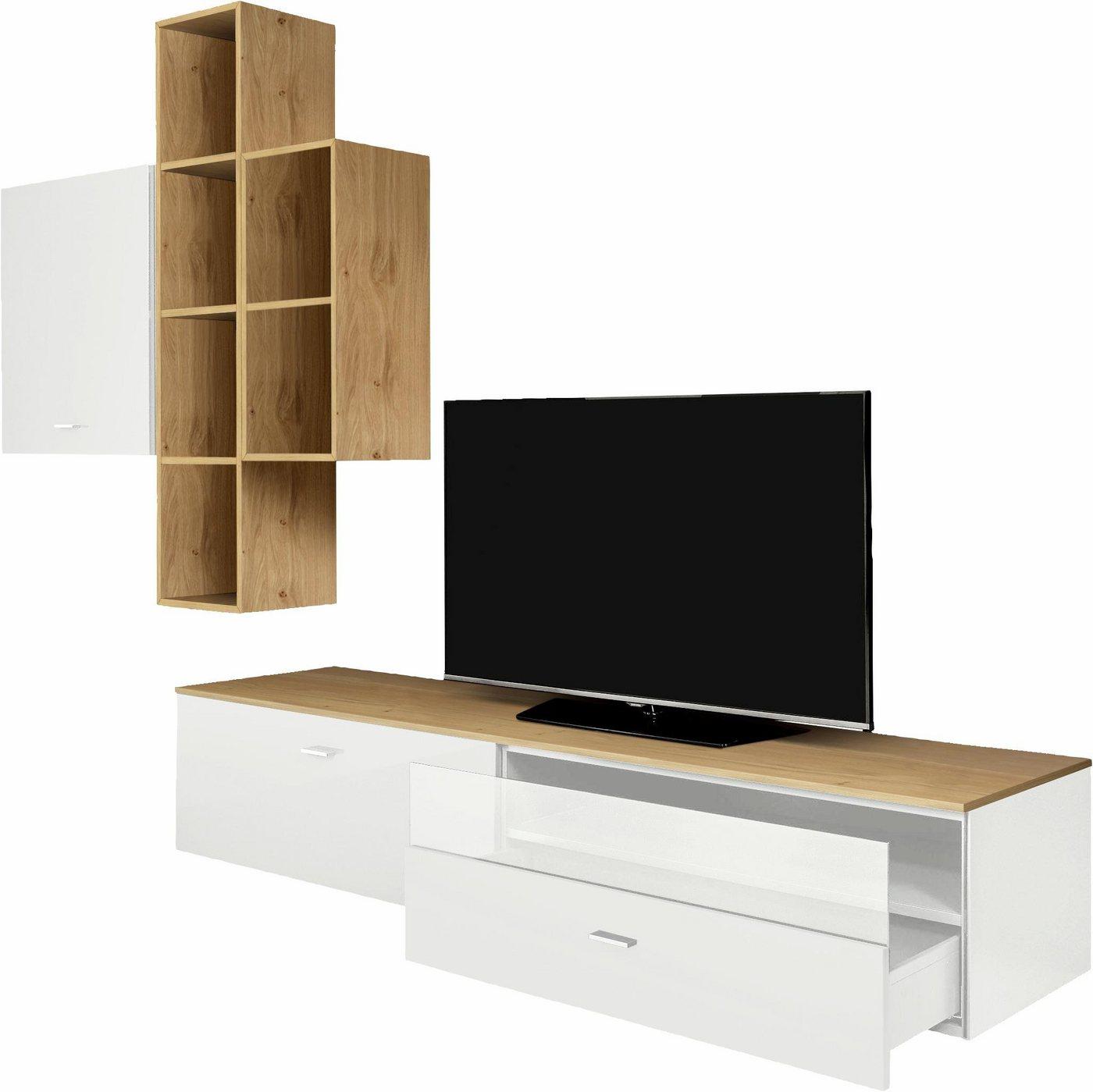 wohnwand h lsta sonstige preisvergleiche. Black Bedroom Furniture Sets. Home Design Ideas